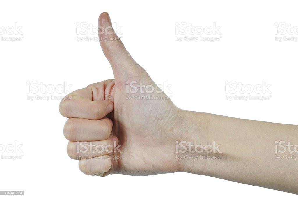 Thumb Up - XLarge royalty-free stock photo