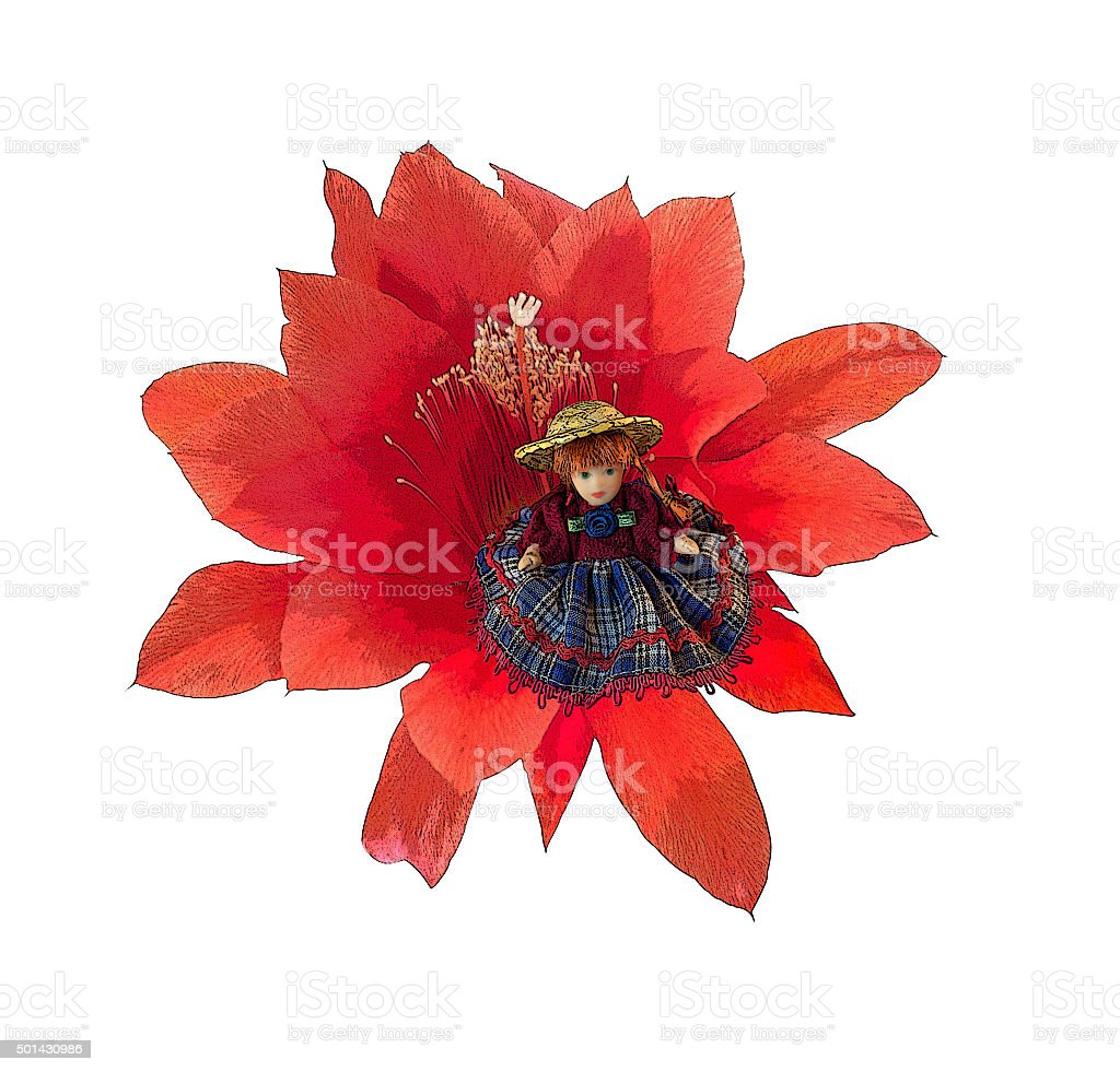 Thumbelina doll stock photo