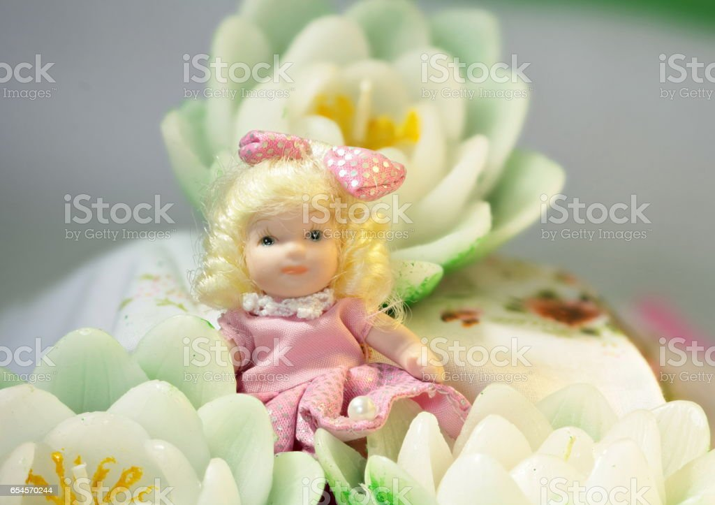 Thumbelina tiny Puppet stock photo