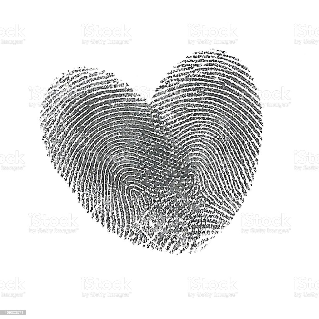 Thumbprint heart stock photo