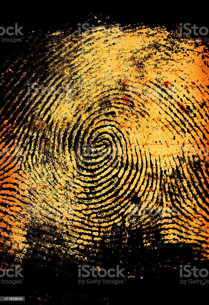 Thumbprint royalty-free stock photo