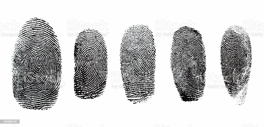 Thumbprint Set stock photo