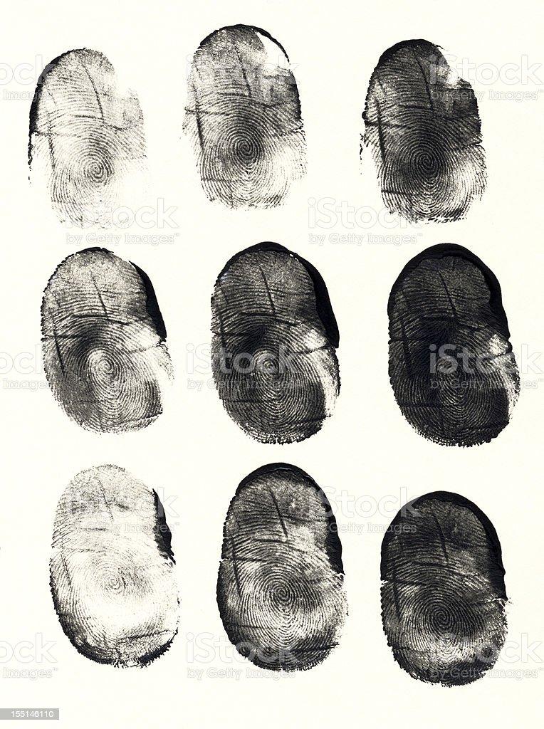 Thumbprints stock photo