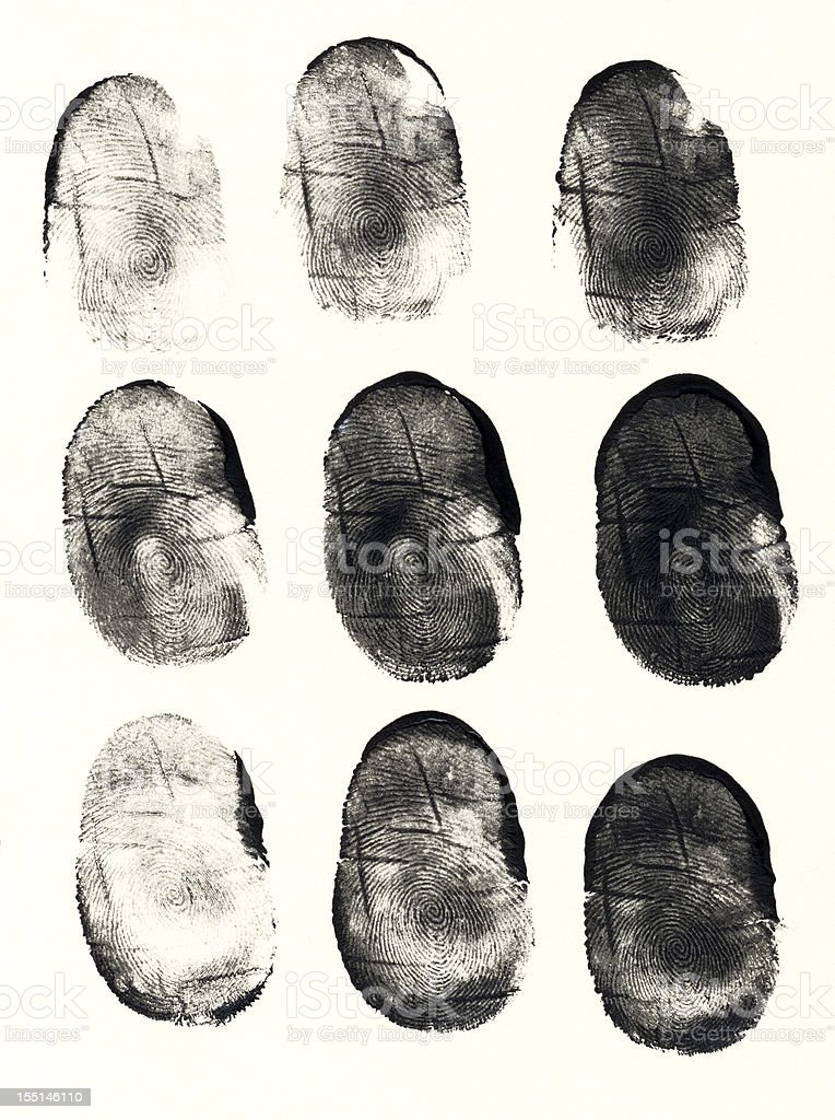 Thumbprints stock photo