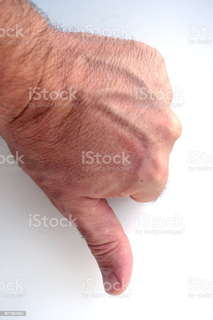 Thumbs down, don´t like! stock photo