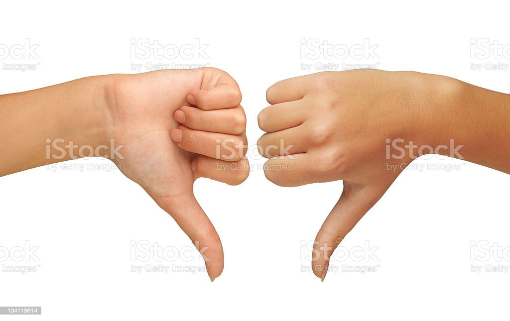 Thumbs down royalty-free stock photo