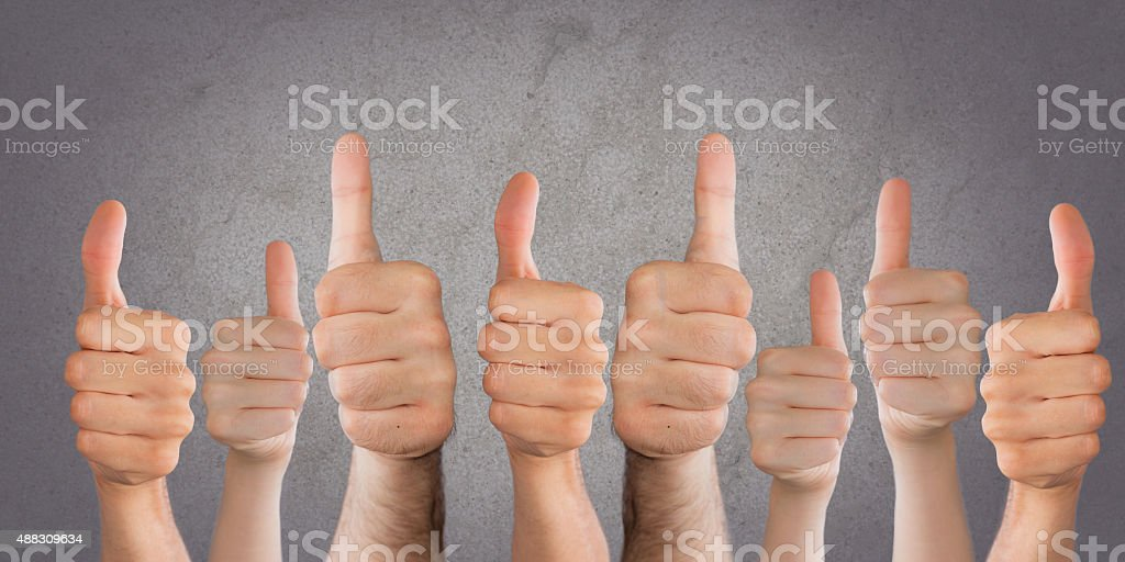 thumbs stock photo