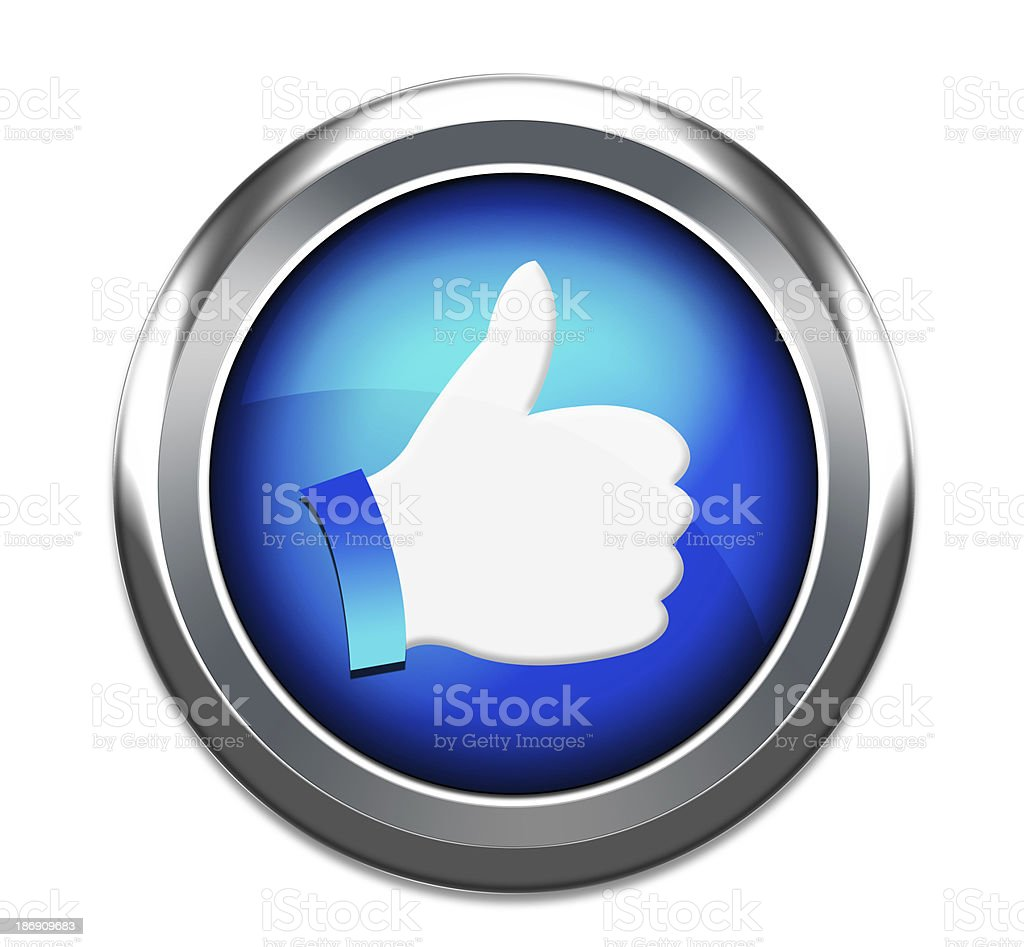 thumbs up 3d icon stock photo