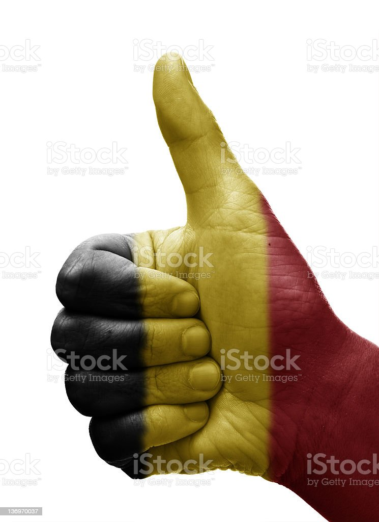 Thumbs up Belgium royalty-free stock photo