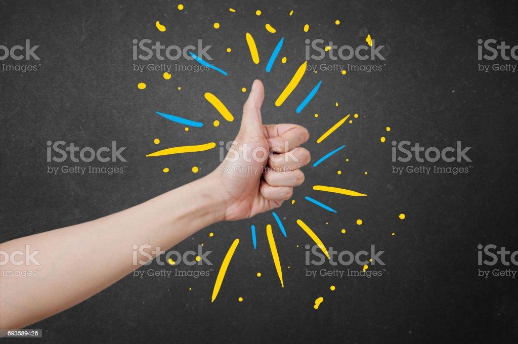 Thumbs up buddy! stock photo