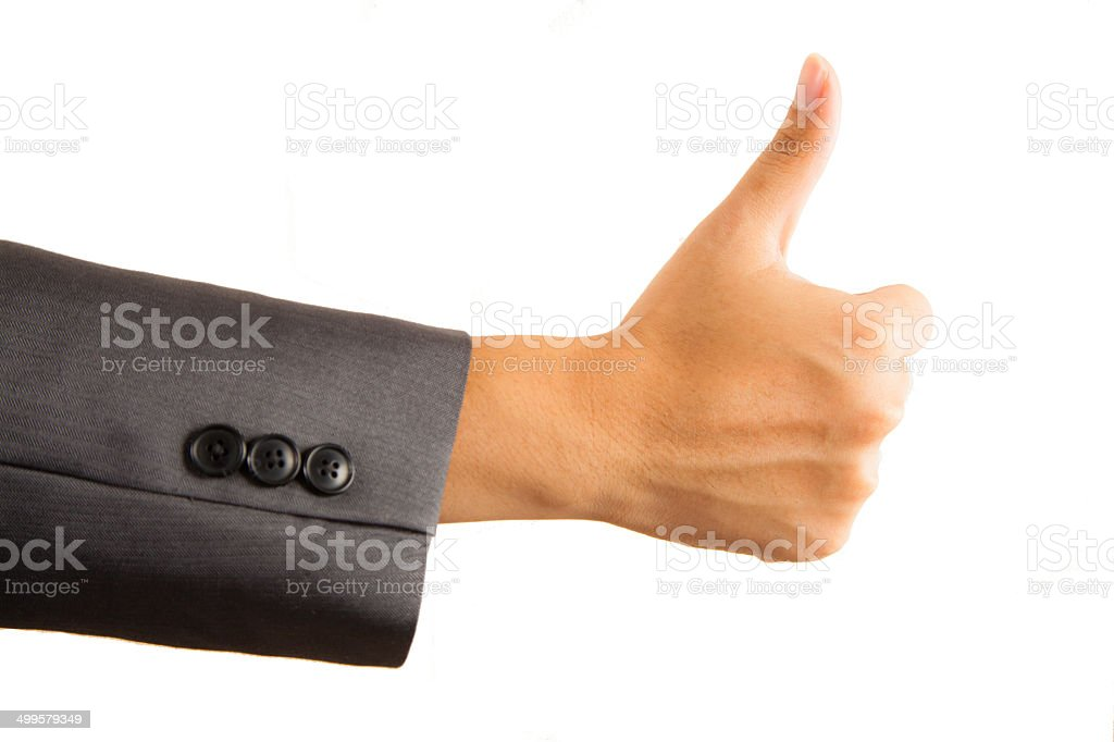 Thumbs Up Business Man royalty-free stock photo