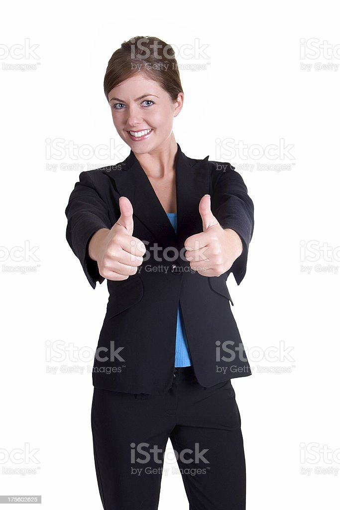Thumbs up business woman royalty-free stock photo