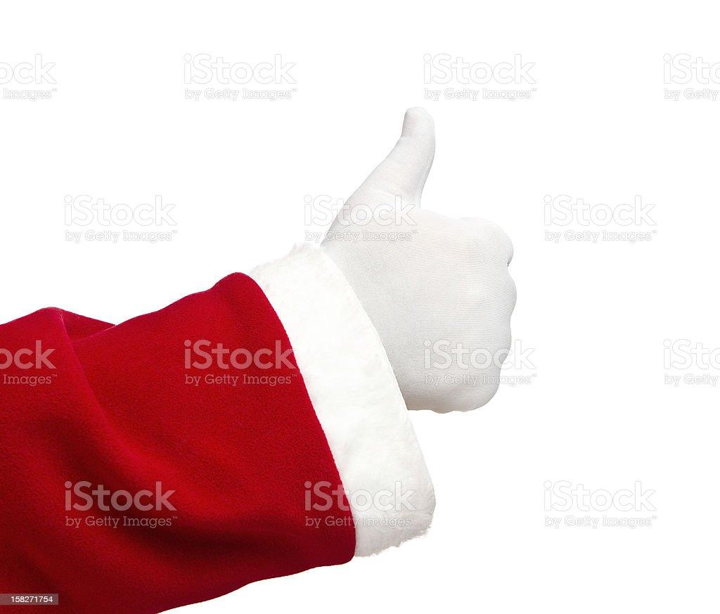 Thumbs up by Santa Claus royalty-free stock photo