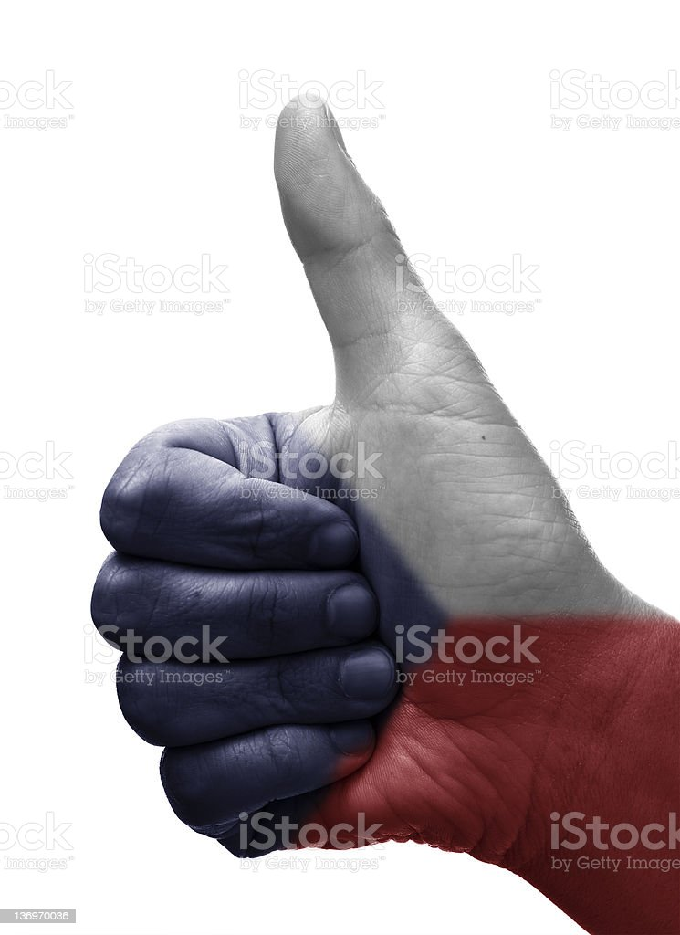 Thumbs up Czech Republic royalty-free stock photo
