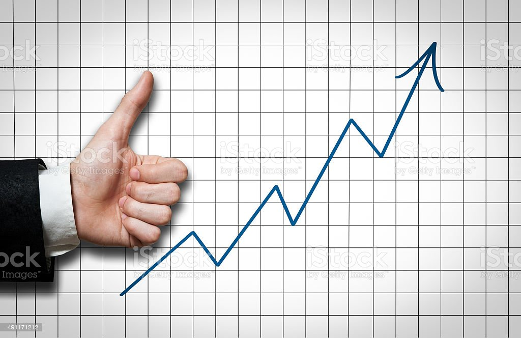 Thumbs Up / Diagram (Click for more) stock photo