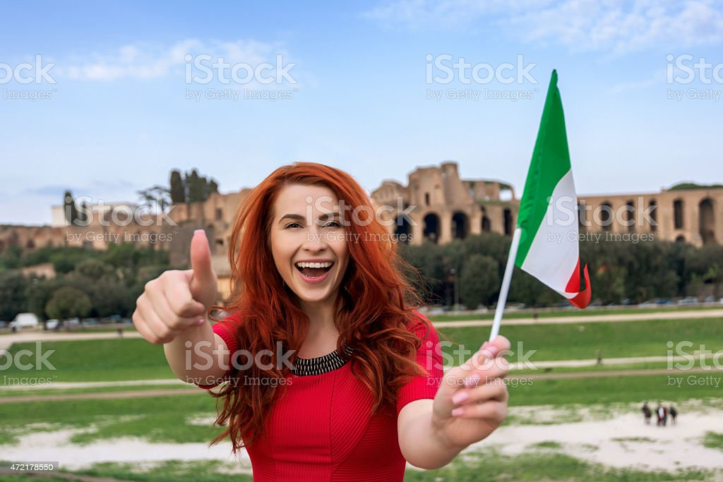 thumbs up for Italy stock photo