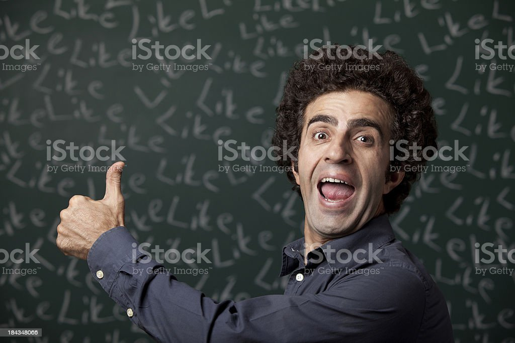 "Thumbs up for ""like"" royalty-free stock photo"