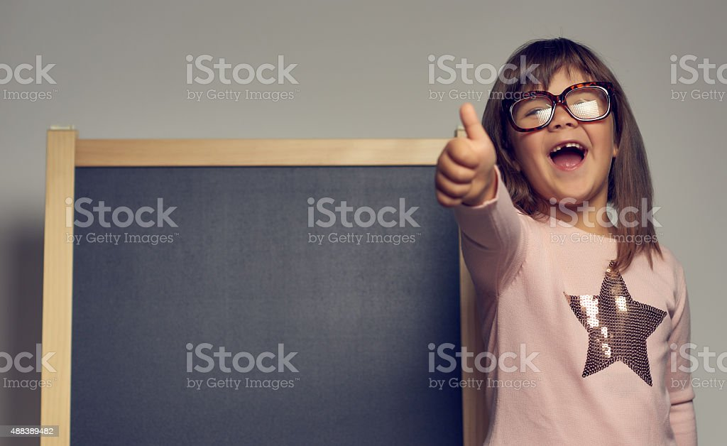 thumbs up for school stock photo
