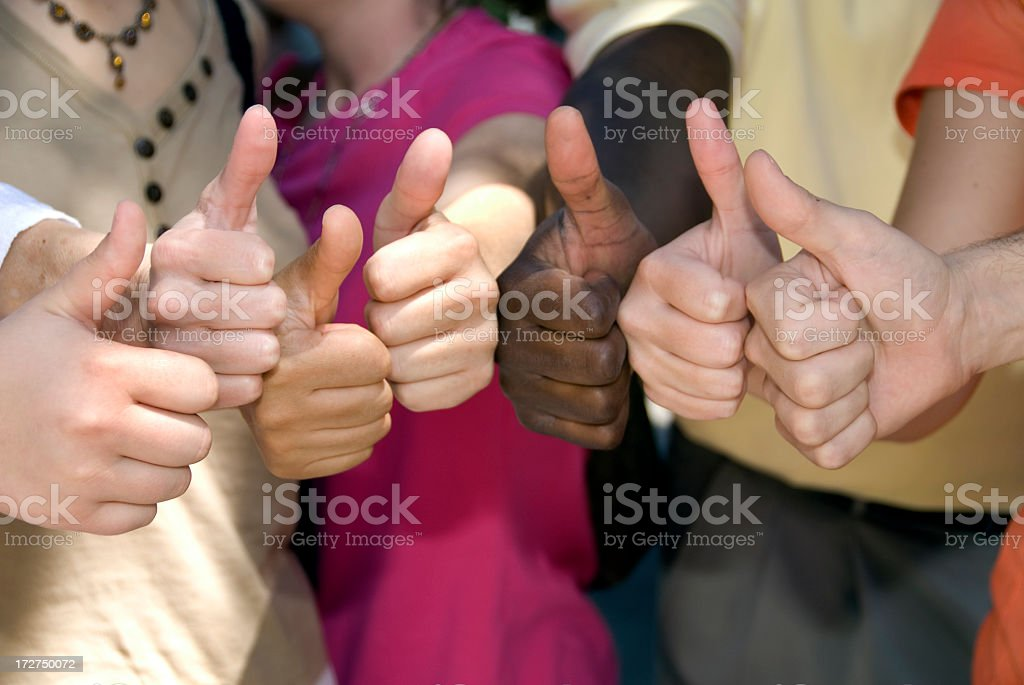 Thumbs Up for Success and Achievement royalty-free stock photo