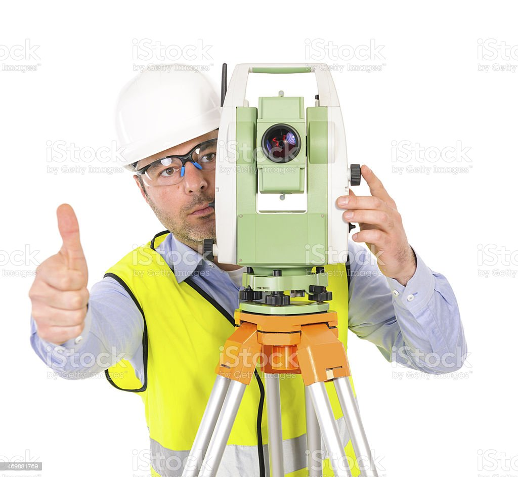 thumbs up for topography royalty-free stock photo