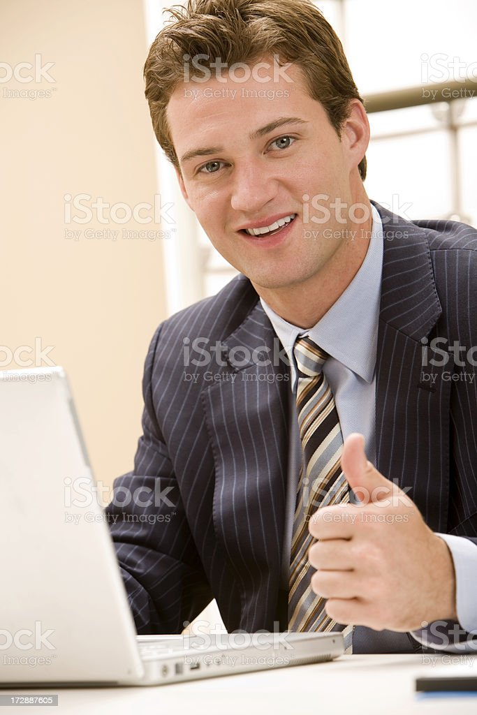 Thumbs Up from Businessman royalty-free stock photo