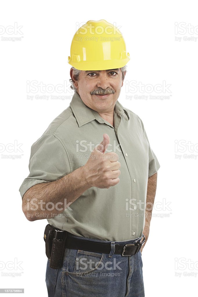 Thumbs Up From Friendly Construction Supervisor royalty-free stock photo