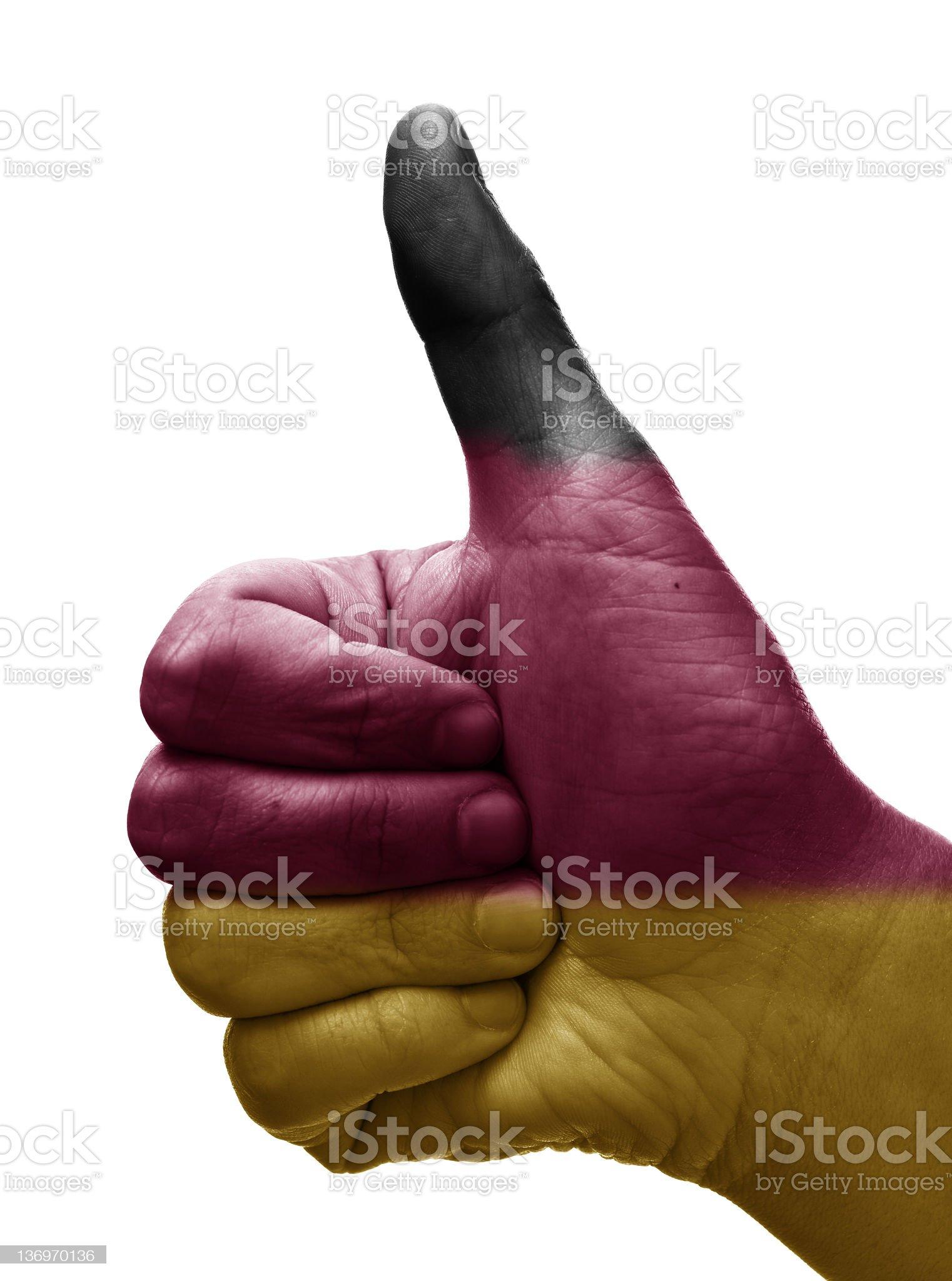 Thumbs up germany royalty-free stock photo