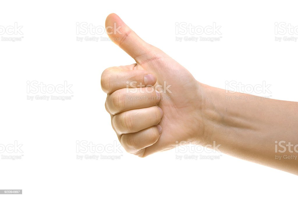 Thumbs up - gestures royalty-free stock photo