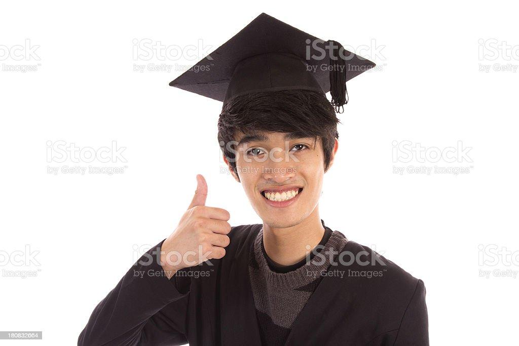 Thumbs Up Graduate stock photo
