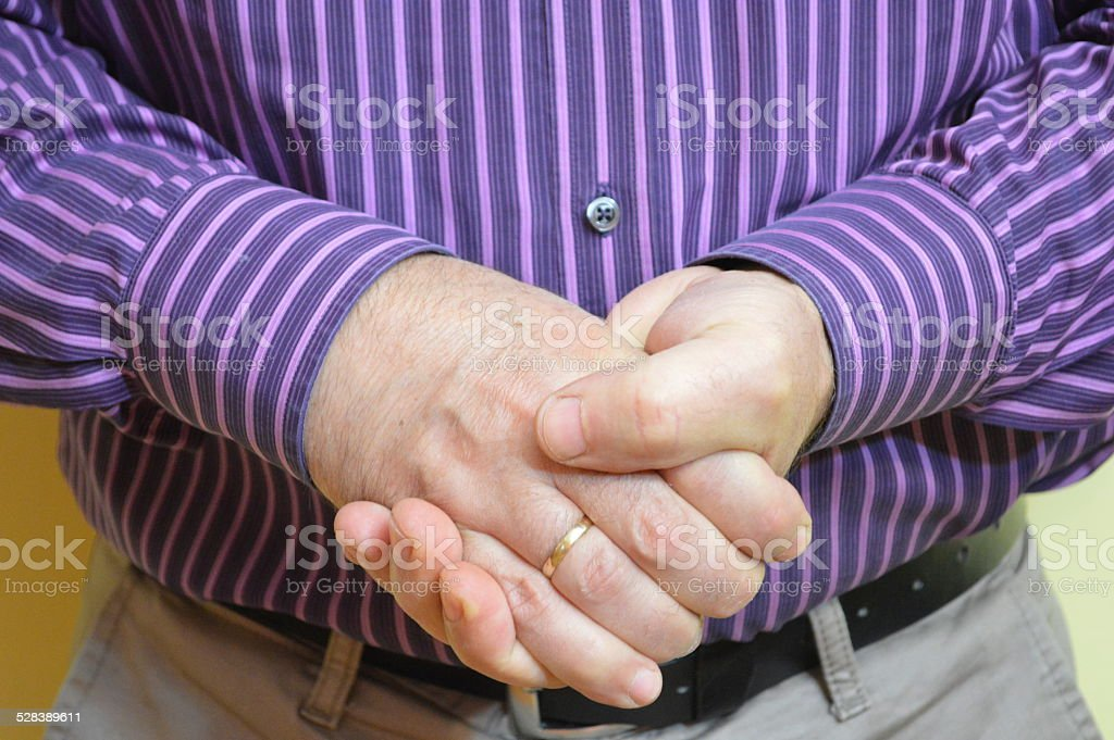 Thumbs up hand sign stock photo