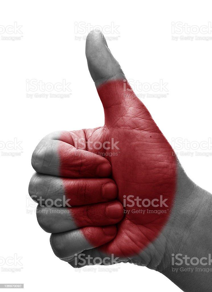 Thumbs up Japan royalty-free stock photo