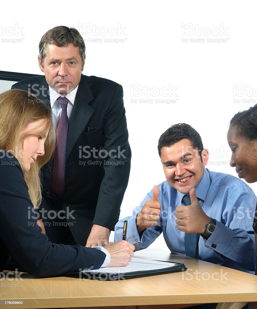 Thumbs up Meeting stock photo