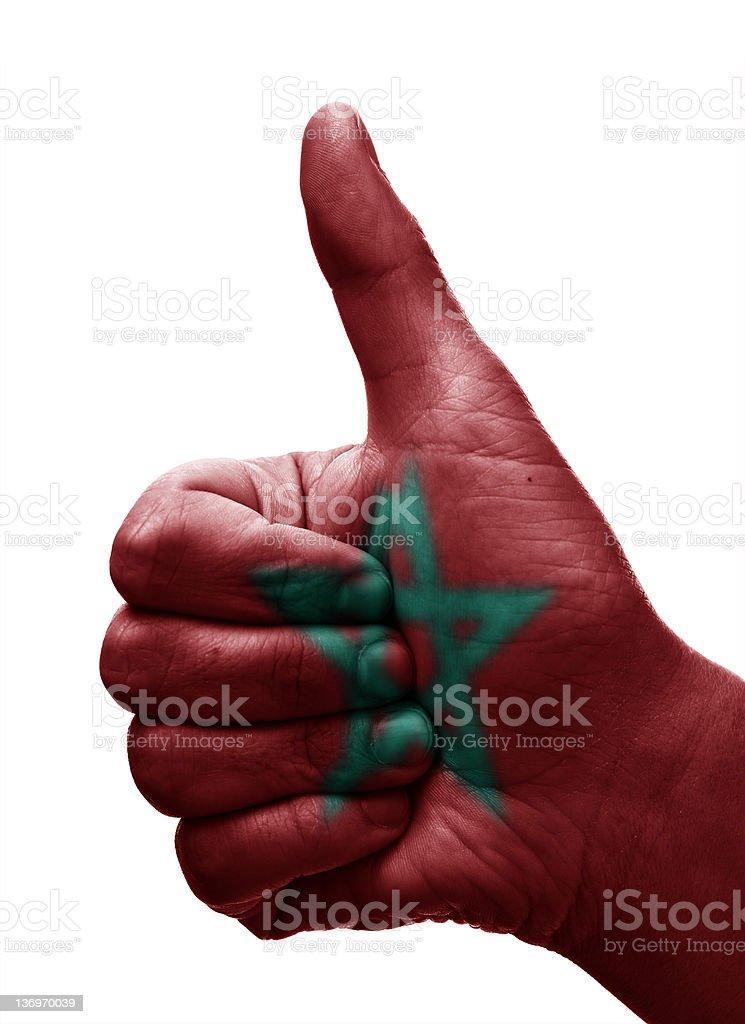 Thumbs up Morocco stock photo