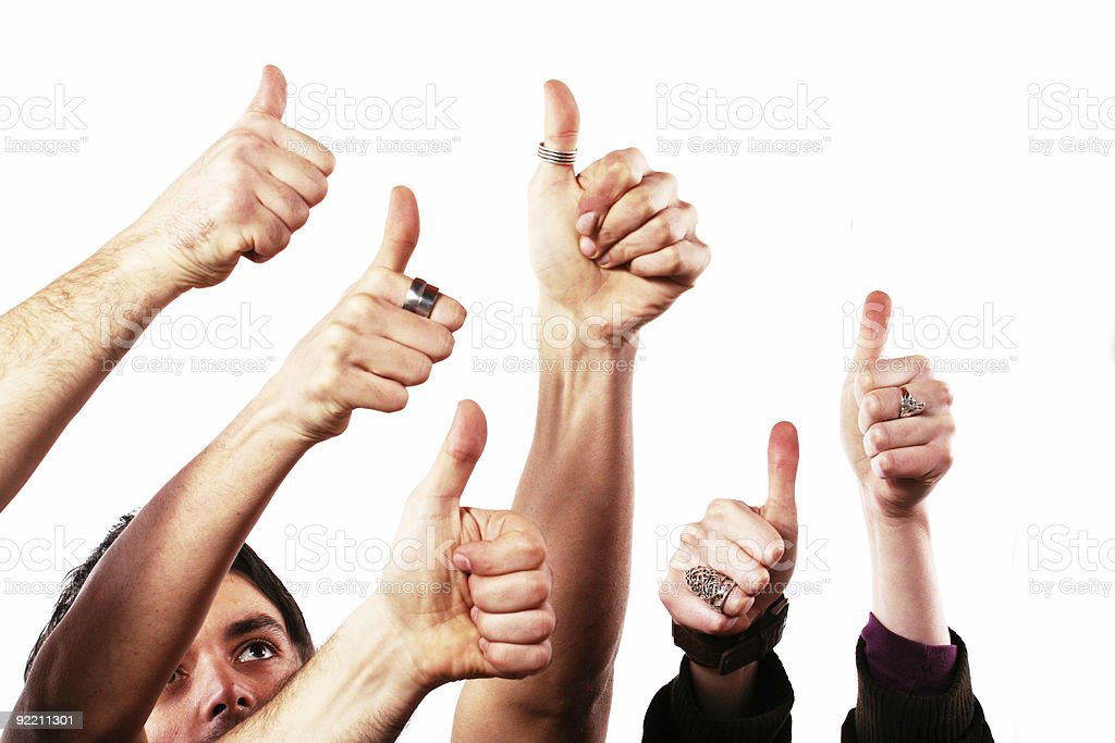 Thumbs up - OK concept royalty-free stock photo