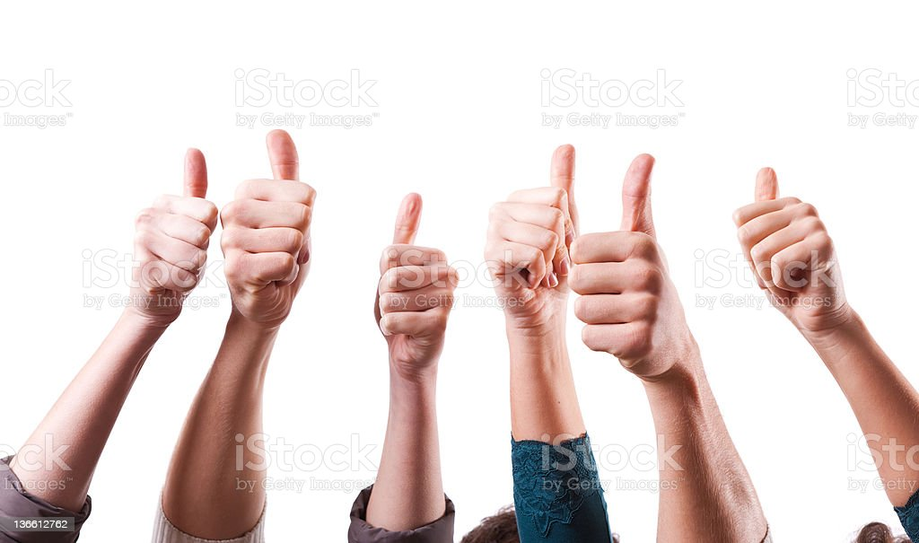 Thumbs Up on White Background royalty-free stock photo