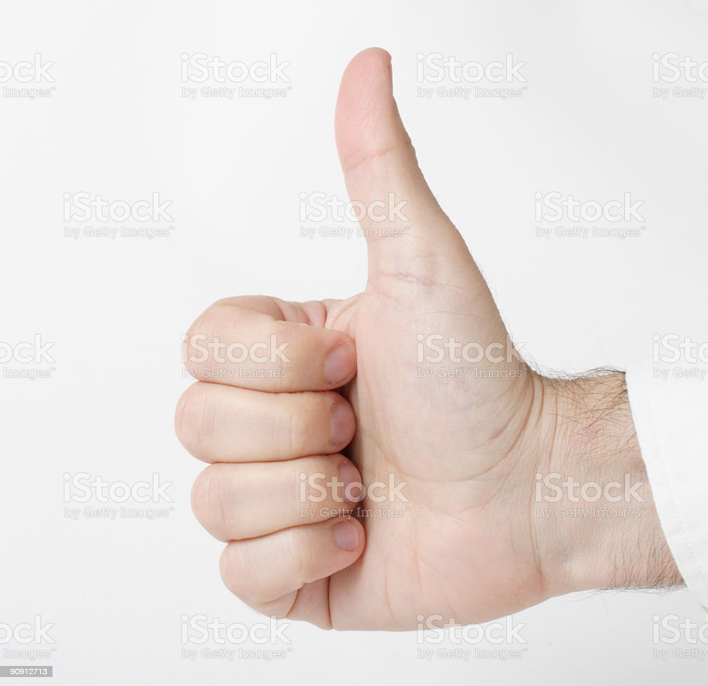 Thumbs Up on White royalty-free stock photo