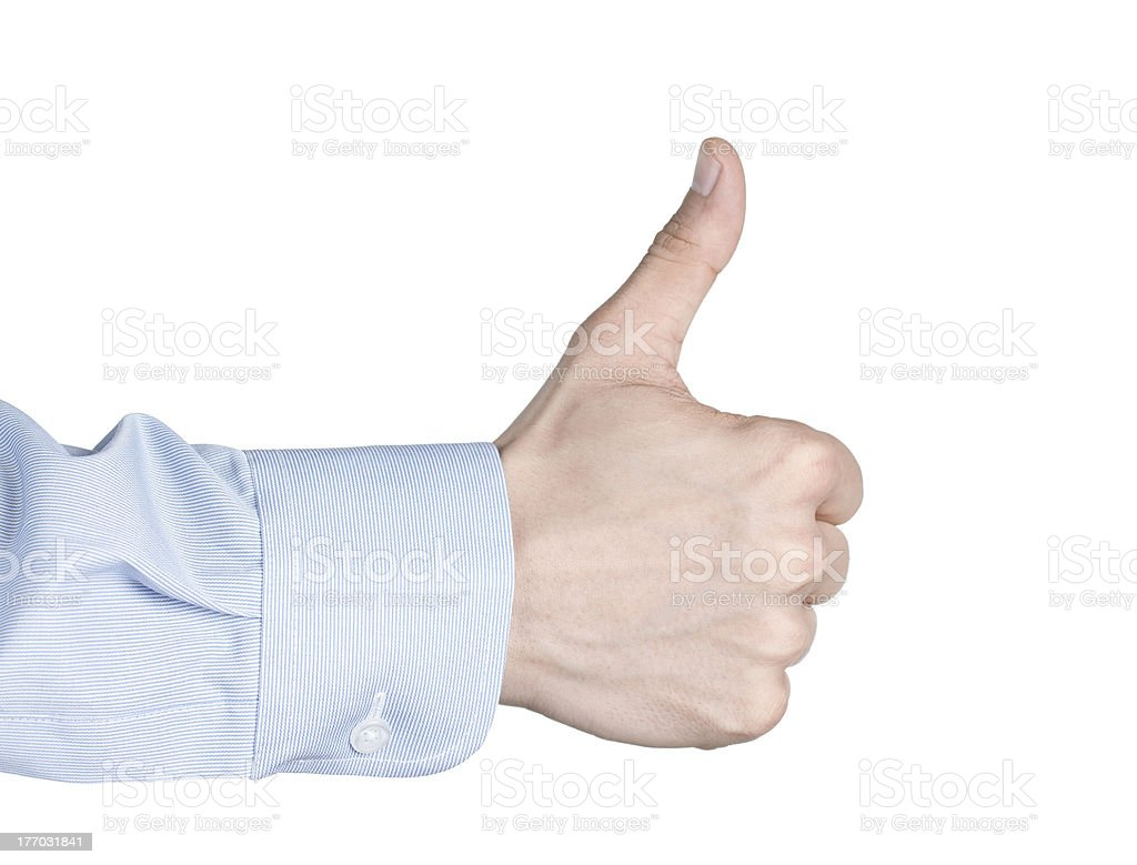 Thumbs up or like symbol royalty-free stock photo