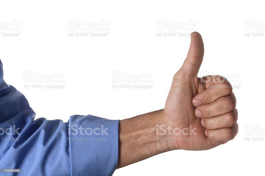 thumb's up stock photo