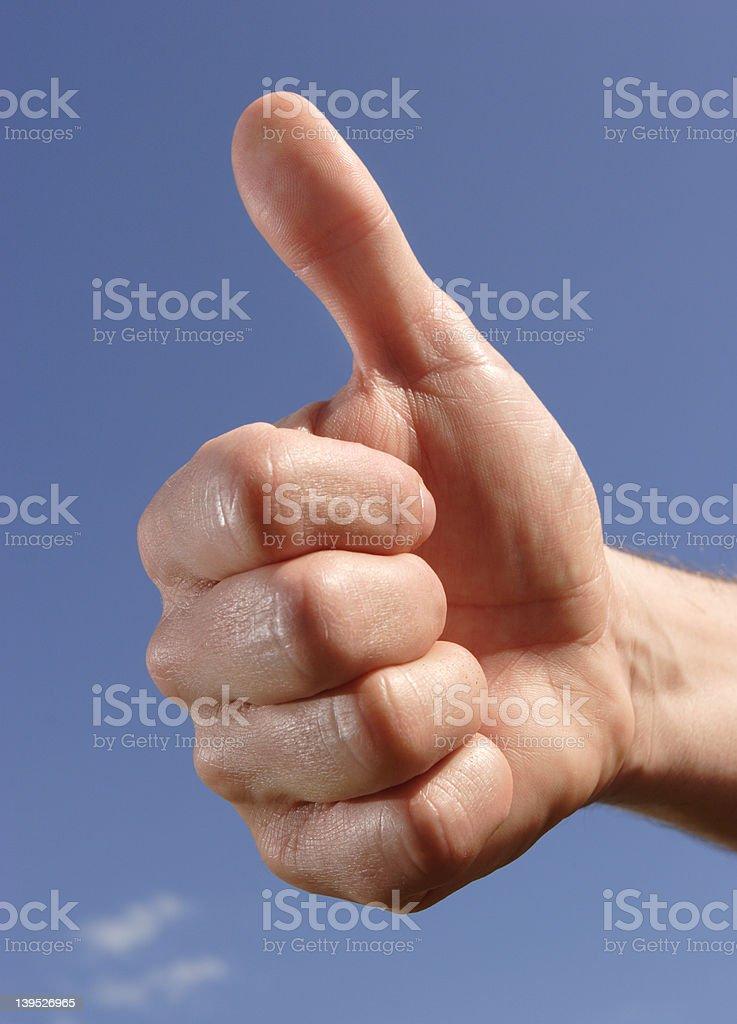 thumbs up stock photo