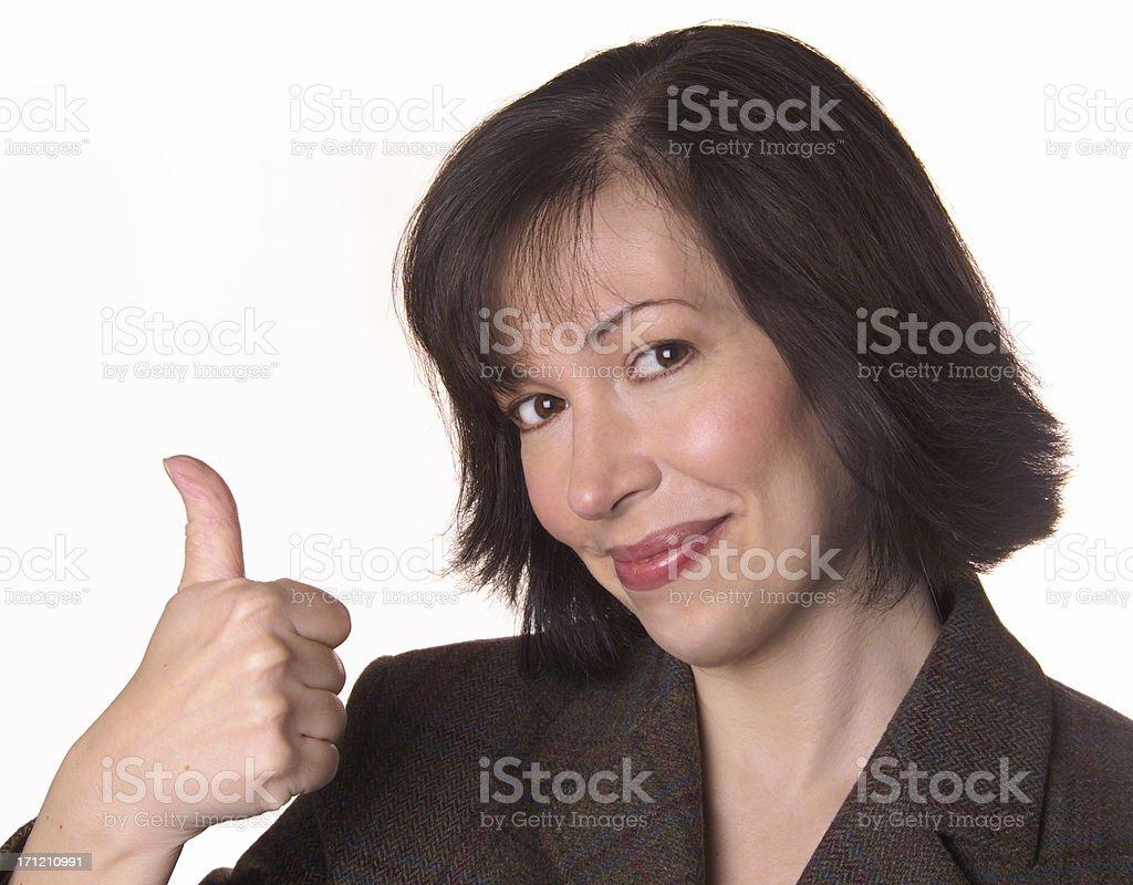 thumb's up! royalty-free stock photo