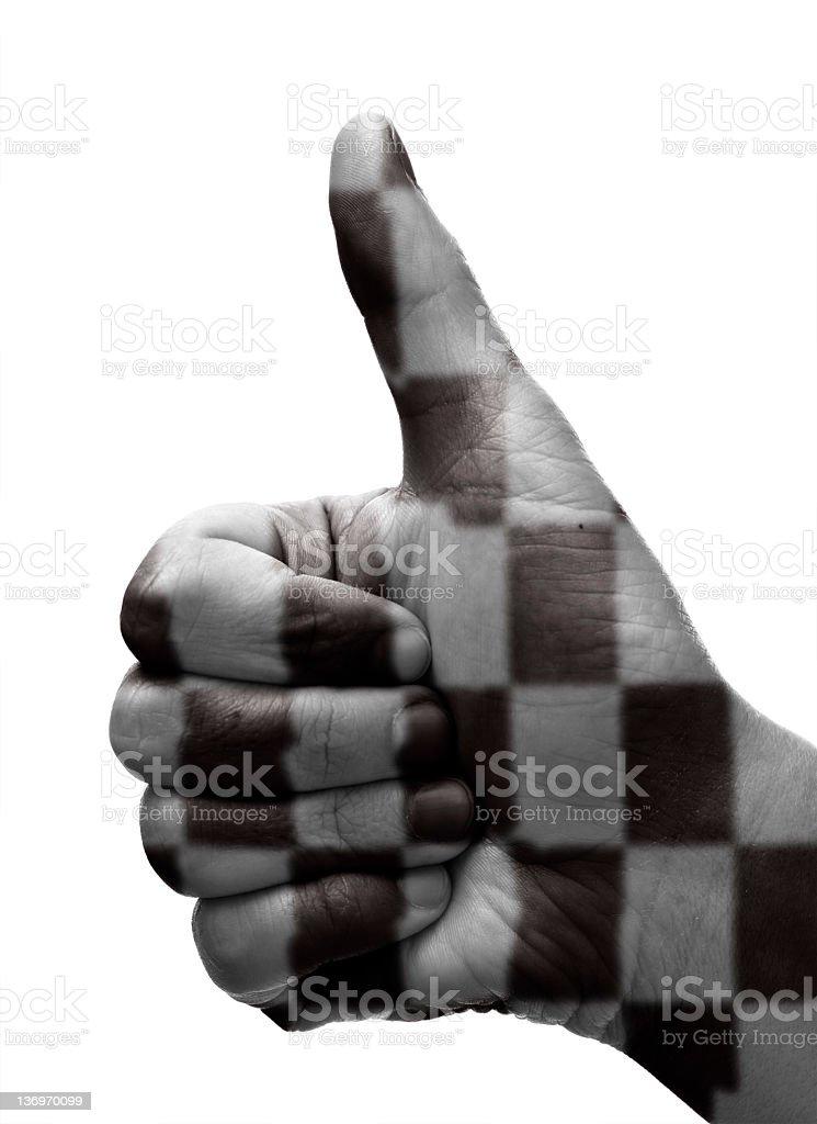 Thumbs up racing royalty-free stock photo