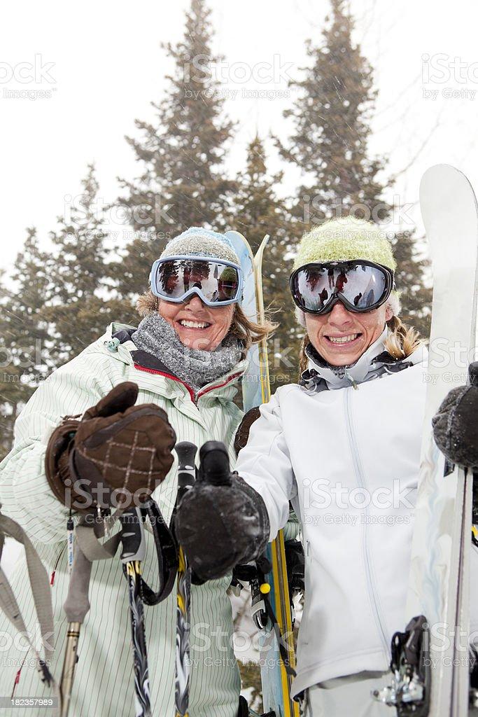 Thumbs up ready to ski royalty-free stock photo