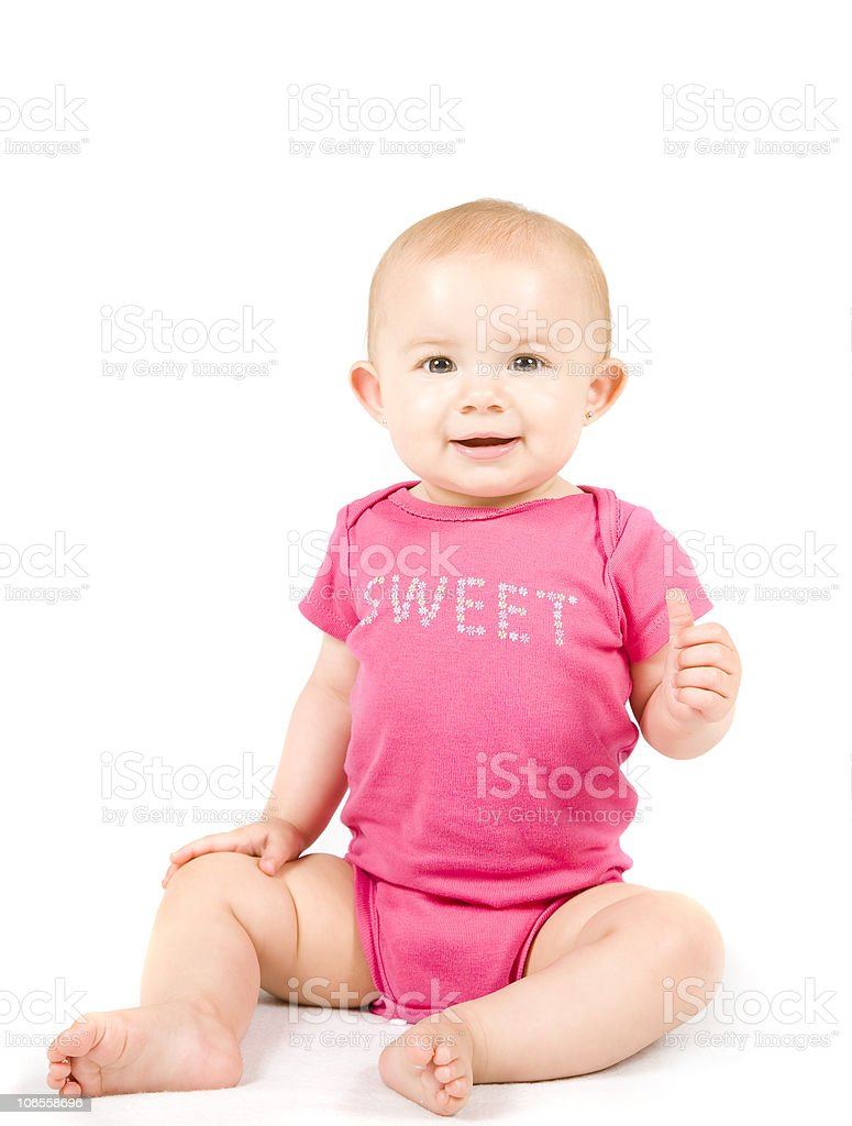 Thumb's Up, Sweet Little Girl Series royalty-free stock photo