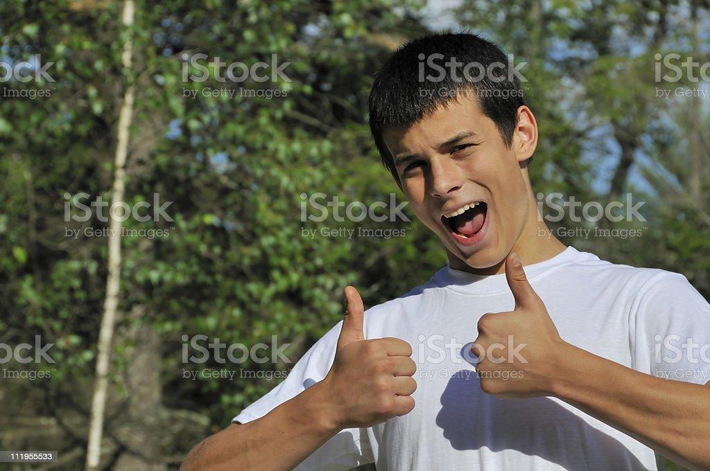 Thumbs Up Teen royalty-free stock photo