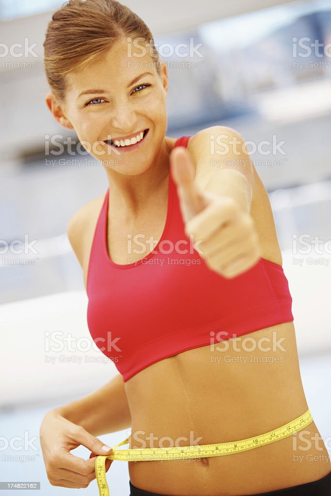 Thumbs up to a healthy lifestyle royalty-free stock photo
