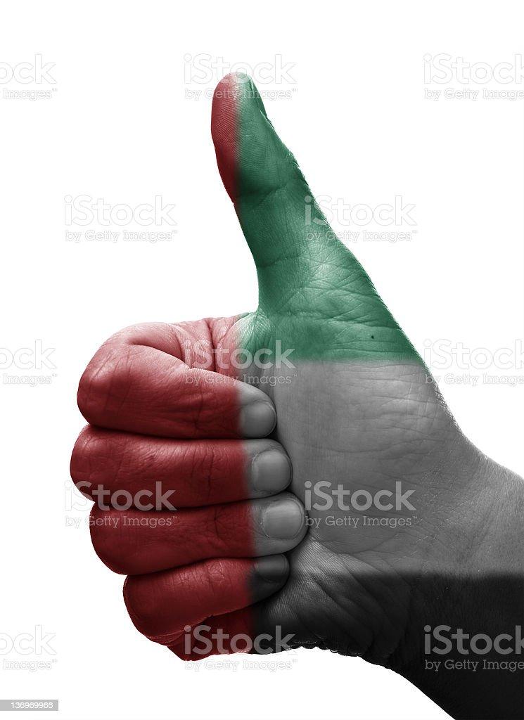 Thumbs up United Arab Emirates royalty-free stock photo