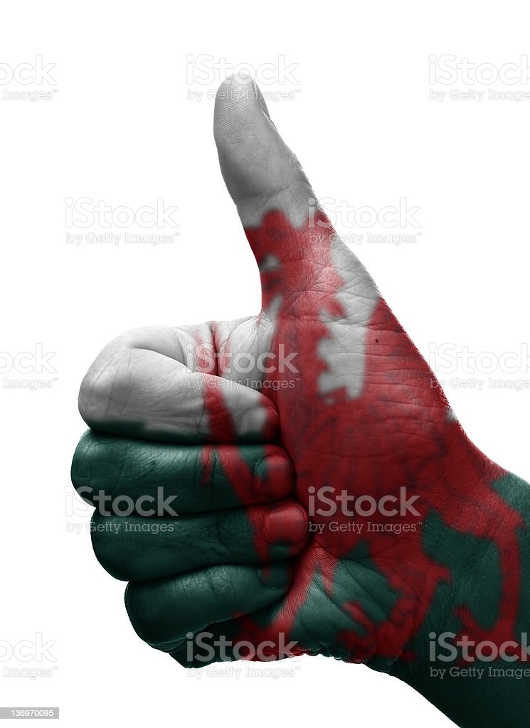 Thumbs up Wales royalty-free stock photo