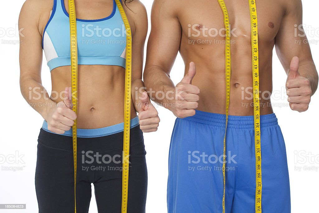 thumbs up weight loss royalty-free stock photo