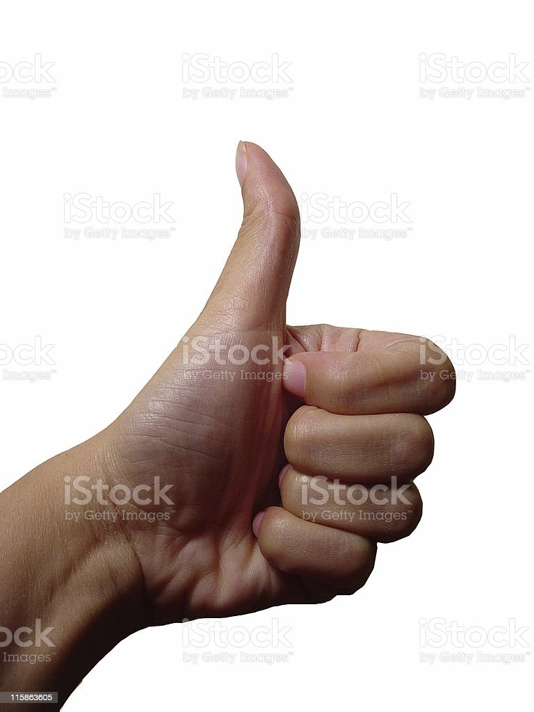 Thumbs Up with Left hand royalty-free stock photo