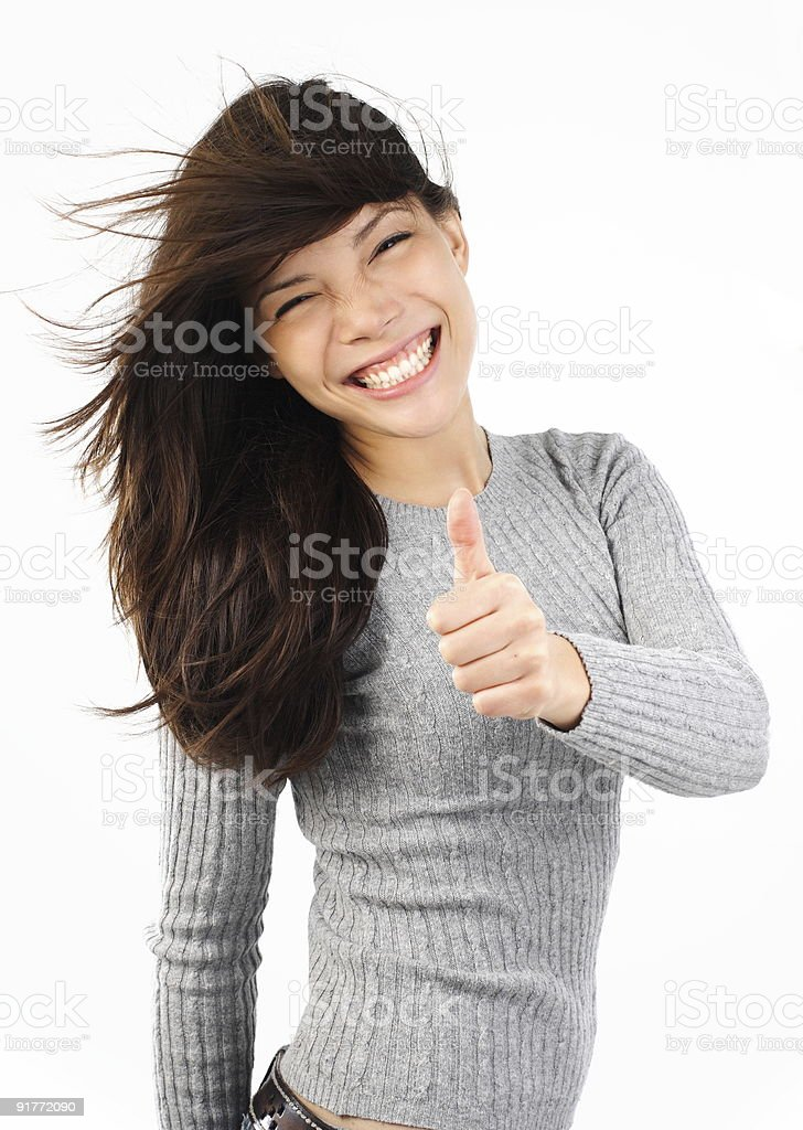 thumbs up woman royalty-free stock photo